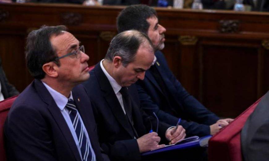 FOTOGRAFÍA. MADRID (ESPAÑA), TRIBUNAL DEL PROCÉS 8TRIBUNAL SUPREMO), MAYO DE 2019. Los líderes independentistas acusados por el proceso soberanista catalán Jordi Sánchez (d). Efe