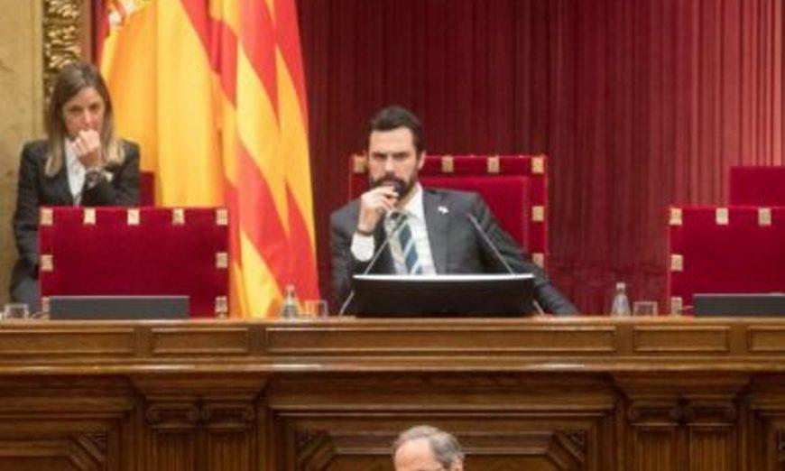 FOTOGRAFÍA. PARLAMENTO DE CATALUÑA (BARCELONA) ESPAÑA, 13.07.2019. El presidente de la Generalitat de Cataluña, Quim Torra. Efe.