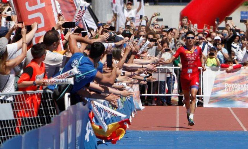 FOTOGRAFÍA. PONTEVEDRA (GALICIA) ESPAÑA, MAYO DE 2019. El pentacampeón del mundo de triatlón en distancia olímpica Javi Gómez Noya, Triatlón. Efe
