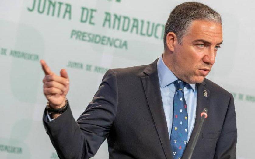 FOTOGRAFÍA. SEVIILA (ESPAÑA), MAYO DE 2019. El consejero de la Presidencia y portavoz del Gobierno, Elías Bendodo. Efe