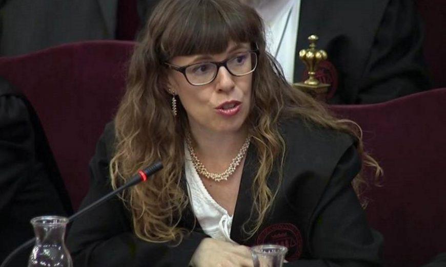 FOTOGRAFÍA. TRIBUNAL SUPREMO, 12.07.2019. Imagen tomada de la señal institucional del Tribunal Supremo de Olga Arderiu, abogada de Carme Forcadell. Efe.
