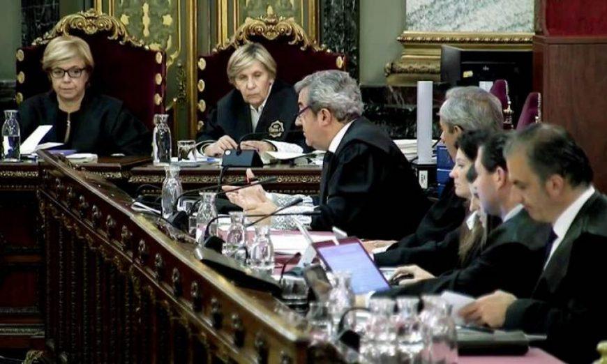 FOTOGRAFÍA. TRIBUNAL SUPREMO (MADRID (ESPAÑA), 04.06.2019. Recta final del Juicio Procés. Imagen tomada de la señal institucional del Tribunal Supremo. Efe