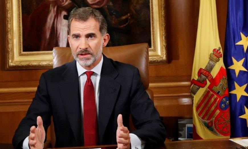 Madrid (España), 03.10.2017. Su Majestad el Rey Felipe VI de España; Palacio de La Zarzuela. Lasvocesdelpueblo.
