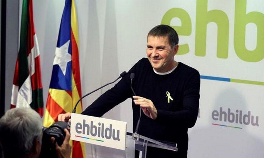 SAN SEBASTIÁN (ESPAÑA), 27.10.2017. El asesino ex líder de la ETA, actual coordinador general de EH Bildu, Arnaldo Otegi. Efe. Efe