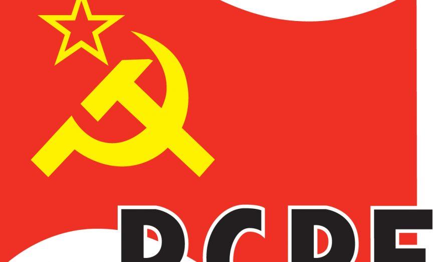 FOTOGRAFÍA. MADRID (ESPAÑA), MAYO DE 2020. Vista de un logotipo del Partido Comunista de los Pueblos de España (PCPE). Lasvocesdelpueblo (Ñ Pueblo)